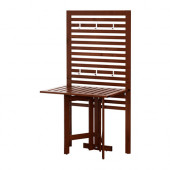 ÄPPLARÖ Wall panel+gate-leg table, outdoor, brown stained - 490.540.15
