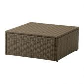ARHOLMA Table/stool, outdoor, brown - 301.477.17