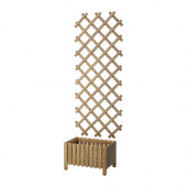 ASKHOLMEN Flower box with trellis, outdoor, gray-brown stained - 590.539.25