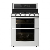 BETRODD Range w/double oven and gas cooktop, Stainless steel - 402.885.61