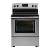 BETRODD Range with ceramic cooktop, Stainless steel - 802.548.04