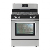 BETRODD Range with gas cooktop, Stainless steel - 002.885.58