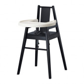 BLÅMES Highchair with tray, black - 101.690.03