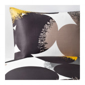 BOLLTISTEL Duvet cover and pillowcase(s), gray, yellow - 702.865.32