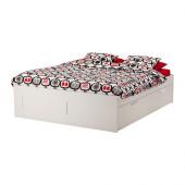 BRIMNES Bed frame with storage, white - 599.316.08