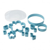 DRÖMMAR 14-piece pastry cutter set in box, light blue - 801.330.39