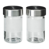 DROPPAR Spice jar, frosted glass, stainless steel - 401.136.13