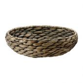 DRUVFLÄDER Bowl, water hyacinth, gray - 902.332.98