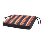 EKERÖN Chair pad, outdoor, black, stripe - 502.852.89
