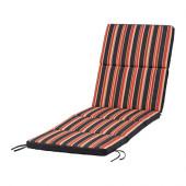 EKERÖN Chaise pad, black, stripe - 902.852.92