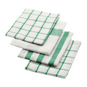 ELLY Dish towel, white, green - 402.777.65