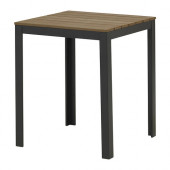 FALSTER Table, outdoor, black, brown - 302.405.79