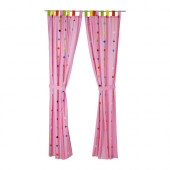 FESTLIG Curtain with tie-back, pink - 002.423.44