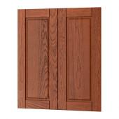 FILIPSTAD 2-p door/corner base cabinet set, brown - 602.642.29