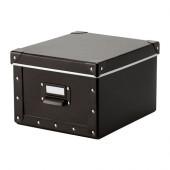 FJÄLLA Box with lid, brown - 102.919.99