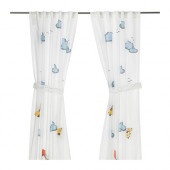 FLYGNING Curtain with tie-back, white - 802.644.50