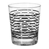 FÖREBILD Glass, patterned black - 502.358.88