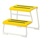 GLOTTEN Step stool, yellow, white - 302.713.68