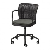 GREGOR Swivel chair, black, Svanby gray - 902.604.61