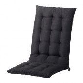 HÅLLÖ Seat/back pad, outdoor, black - 302.644.62