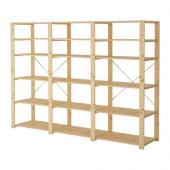 HEJNE 3 sections/shelves, softwood - 990.314.08
