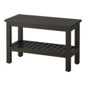 HEMNES Bench, black-brown stain - 202.236.22