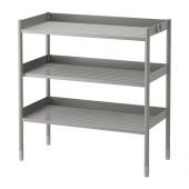 HINDÖ Shelving unit, indoor/outdoor, gray - 502.902.81
