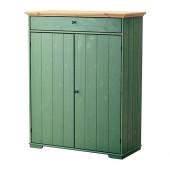HURDAL Linen cabinet, green - 102.688.52
