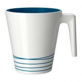 HURRIG Mug, white, turquoise - 901.841.51
