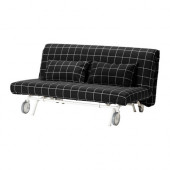 IKEA PS Sofabed slipcover, Rute black, white - 201.847.91