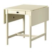 INGATORP Drop-leaf table, white - 102.224.06