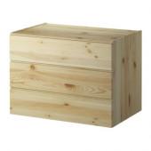 IVAR 3-drawer chest, pine - 901.452.68