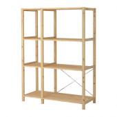 IVAR 2 sections/shelves, pine - 298.963.81