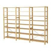 IVAR 3 sections/shelves, pine - 199.038.29
