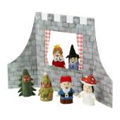 JÄTTELITEN 7-pc finger puppets & accessories, multicolor - 502.480.27