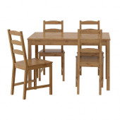 JOKKMOKK Table and 4 chairs, antique stain - 502.111.04