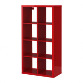 KALLAX Shelving unit, high gloss red - 802.788.38