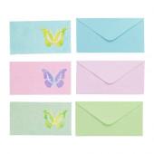 KÄRESTA Card with envelope, pink, green blue - 302.952.46