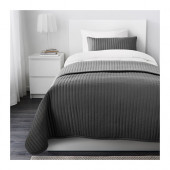 KARIT Bedspread and cushion cover, gray - 402.902.48