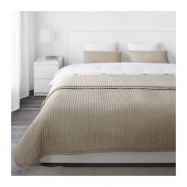 KARIT Bedspread and 2 cushion covers, beige