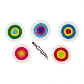 KÄRRNÄVA Textile decorative patches, assorted colors - 302.574.90