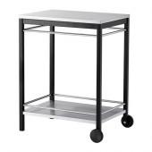 KLASEN Serving cart, outdoor, stainless steel black - 499.318.02