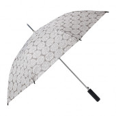 KNALLA Umbrella, gray, white - 202.828.19