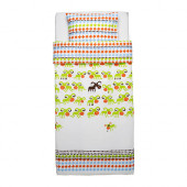 KOSSAN Duvet cover and pillowcase(s), green - 602.344.21