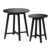 KRAGSTA Nesting tables, set of 2, black - 002.998.25