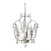 KRISTALLER Chandelier, 3-armed, silver color, glass - 200.894.64