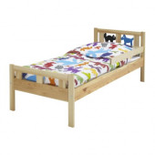 KRITTER Bed frame with slatted bed base, pine - 398.364.95