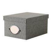 KVARNVIK Box with lid, gray - 702.566.67