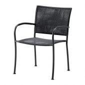 LÄCKÖ Armchair, outdoor, gray - 401.604.78
