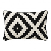 LAPPLJUNG RUTA Cushion cover, white, black - 002.818.92